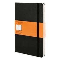 Moleskine MBL14 8 inch x 5 inch Black Ruled Hardcover Notebook