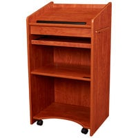 Oklahoma Sound 600-CH Wild Cherry Finish Aristocrat Floor Host Stand