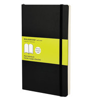 Moleskine MSL17 8 inch x 5 inch Black Plain Softcover Notebook