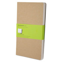 Moleskine QP416 5 inch x 8 1/4 inch Kraft Brown Ruled Cahier Journal - 3/Pack