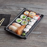 Eco Products EP-SH3-CPK 6 inch x 9 inch Large Sushi Container with Lid - 600/Case