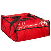 Cambro GBP318521 Customizable Insulated Red Pizza Delivery GoBag™ - Holds up to (3) 18 inch or (4) 16 inch Pizza Boxes