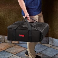 Cambro GBP216110 Customizable Insulated Black Pizza Delivery GoBag™ - Holds up to (2) 16 inch or (3) 14 inch Pizza Boxes
