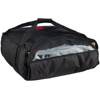 Cambro GBP318110 Customizable Insulated Black Pizza Delivery GoBag™ - Holds up to (3) 18 inch or (4) 16 inch Pizza Boxes