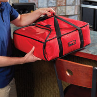 Cambro GBP216521 Customizable Insulated Red Pizza Delivery GoBag™ - Holds up to (2) 16 inch or (3) 14 inch Pizza Boxes