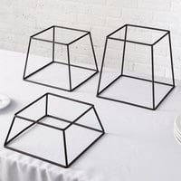 Choice Square Black Metal 3-Piece Display Stand Set