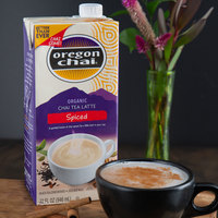 Oregon Chai 32 oz. Organic Spiced Chai Tea Latte 1:1 Concentrate