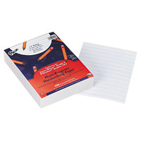 Pacon 2422 8 inch x 10 1/2 inch White Ream of Multi-Program 1/2 inch Rule 16# Handwriting Paper - 500 Sheets
