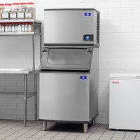 Manitowoc IDT0450A Indigo NXT 30 inch Air Cooled Dice Ice Machine with Bin - 115V, 470 lb.