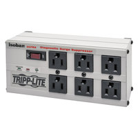 Tripp Lite ISOBAR6ULTRA Isobar 6' Light Gray 6 Outlet Metal Surge Suppressor, 3330 Joules