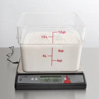 Taylor TE66OS 66 lb. Digital Portion Control Scale with an Oversized Platform