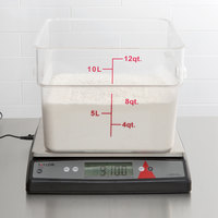 Taylor TE33OS 33 lb. Digital Portion Control Scale with an Oversized Platform