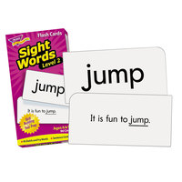Trend T53018 3 inch x 6 inch Sight Words Level 2 Skill Drill Flash Cards - 96/Pack