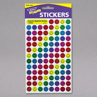 Trend T46909 SuperSpots Assorted Color Sparkle Smile Stickers - 1300/Pack