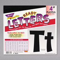 Trend T79741 Ready Letters 4 inch Black Cutout Playful Combo Set - 216/Set