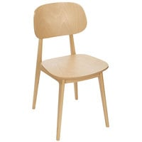BFM Seating ZWC22NT-NT Emma Natural Beechwood Side Chair