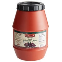 4.4 lb. Large Pitted Kalamata Olives - 4/Case