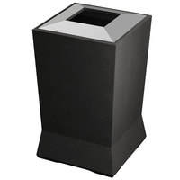 Commercial Zone 724666 ModTec 39 Gallon Gunmetal Satin Square Waste Container with Stainless Steel Lid