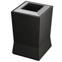 Commercial Zone 724566 ModTec 20 Gallon Gunmetal Satin Square Waste Container with Stainless Steel Lid