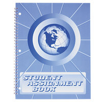 "Ward SA98 11"" x 8 1/2"" 40 Week Student Assignment Book with Laminated Cover"