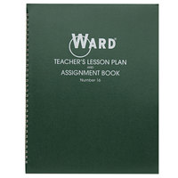 "Ward 16 11"" x 8 1/2"" Green Wirebound 6 Class Periods / Day 100 Page Lesson Plan Book"