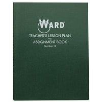 "Ward 18 11"" x 8 1/2"" Green Wirebound 8 Class Periods / Day 100 Page Lesson Plan Book"