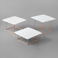 Acopa Square Plate Rose Gold Wire 6-Piece Riser Set