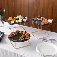 Acopa Slate Rose Gold Wire 6-Piece Riser Set