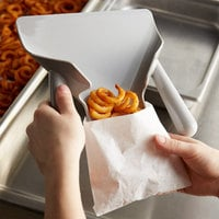 Vollrath 3673 9 inch x 8 inch Plastic Dual Handle Curly Fry Scoop