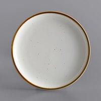 Acopa Keystone 8 1/2 inch Vanilla Bean Porcelain Coupe Plate - 24/Case
