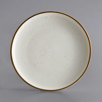Acopa Keystone 12 1/2 inch Vanilla Bean Porcelain Coupe Plate - 12/Case