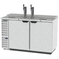 Beverage-Air DD58HC-1-C-S 2 Single Tap Club Top Kegerator Beer Dispenser - Stainless Steel Front, (3) 1/2 Keg Capacity