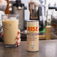 Rise Brewing Co. 7 fl. oz. Oat Milk Latte Nitro Cold Brew Coffee - 12/Case
