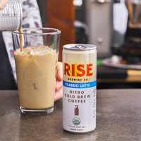 Rise Brewing Co. 7 fl. oz. Classic Latte Nitro Cold Brew Coffee   - 12/Case