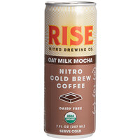 Rise Brewing Co. 7 fl. oz. Oat Milk Mocha Latte Nitro Cold Brew Coffee - 12/Case