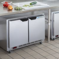 Beverage-Air UCR34HC-104 34 inch Shallow Depth Low Profile Undercounter Refrigerator with 2 3/4 inch Casters