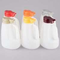 Tablecraft PP64A 64 oz. Option Dispensers with Assorted Tops - 6/Pack
