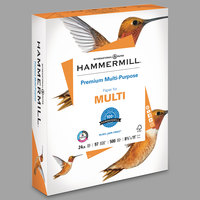 Hammermill 105810 8 1/2 inch x 11 inch White Case of 24# Premium Multipurpose Copy Paper - 2500 Sheets