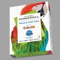 Hammermill 102450 8 1/2 inch x 11 inch Premium Photo White Case of 28# Color Copy Paper - 2500 Sheets