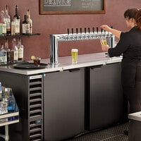 Beverage-Air DD94HC-1-B-12T 12 Tap Kegerator Beer Dispenser - Black, (12) 1/6 Keg Capacity