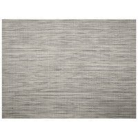 H. Risch, Inc. GA-2016 16 inch x 12 inch Smokey Quartz Woven Vinyl Rectangle Placemat - 12/Pack