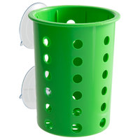 Steril-Sil PN1-LIME Lime Perforated Plastic Flatware Cylinder with Suction Cups