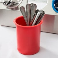 Steril-Sil PC-700-RED Red Solid Plastic Flatware Cylinder