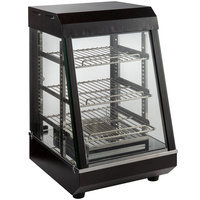 Avantco HDC-13 13 inch Self Service 3 Shelf Countertop Heated Display Case with Hinged Doors - 120V, 1200W