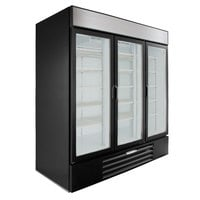 Beverage-Air MMR72HC-1-B MarketMax 75 inch Black Refrigerated Glass Door Merchandiser with LED Lighting