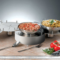 Bon Chef 12101H Stainless Steel High Linking Chafer Alternative - 16 inch x 6 1/4 inch