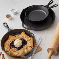 Lodge 3-Piece Pre-Seasoned Cast Iron Skillet Set - Includes 8 inch, 10 1/4 inch, and 12 inch Skillets