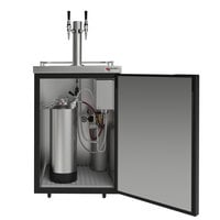 Micro Matic MDD23-E-AMER Americano 25 inch Cold Brew Nitrogen Coffee Dispenser with 2 Taps