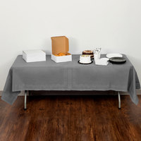 Creative Converting 339655 54 inch x 108 inch Glamour Gray Tissue / Poly Table Cover - 6/Case