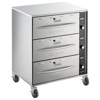 ServIt Mobile Triple Freestanding Drawer Warmer - 1350W, 120V